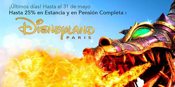 Disneyland Paris promoción descuento 25% 31 de mayo 2017