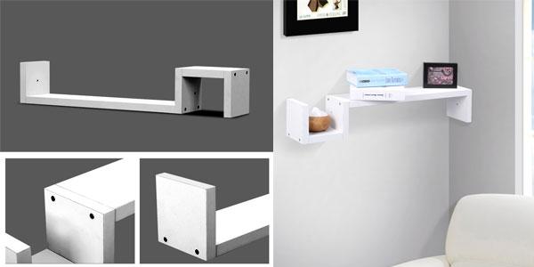 Estante de pared en forma de S de color blanco barato en eBay