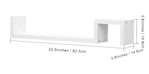 Estante de pared en forma de S de color blanco chollo en eBay