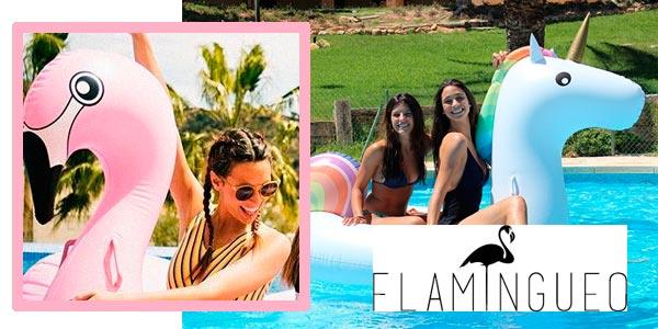 Flotadores gigantes Flamingueo Flamenco y Unicornio rebajados en Amazon