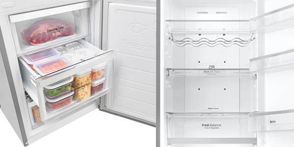 frigorífico LG GBB60PZGFB Total No Frost 375 litros
