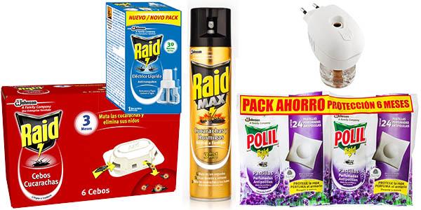 insecticidas antipolillas descuentos carrefour raid baygon