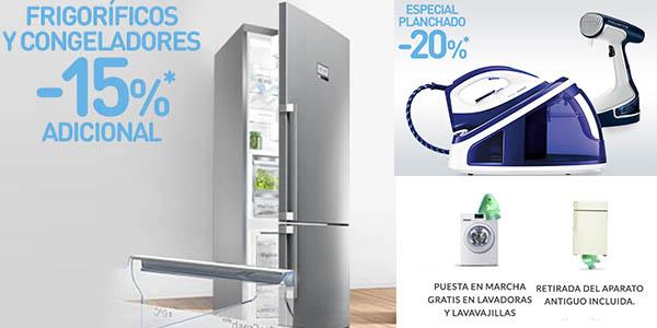 lavadoras neveras y pequeño electrodoméstico rebajados