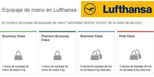Lufthansa equipaje de mano medidas permitidas en mayo 2017