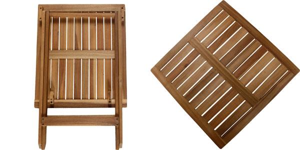 Mesa auxiliar plegable de madera de acacia chollazo en eBay