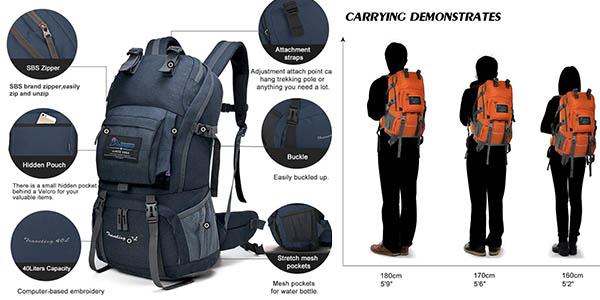 mochila de senderismo con genial relación calidad-precio