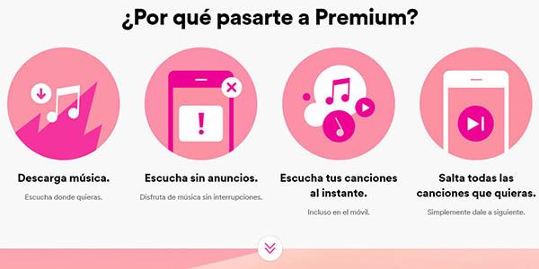 música sin anuncios Spotify