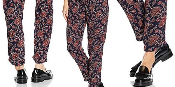 pantalones de verano ligeros estamapados Cortefiel