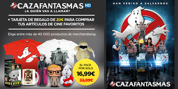Pack Cazafantasmas HD + cheque regalo de 20€ para merchandising
