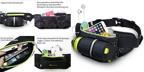 riñoera seguridad para viajar cómodo con compartimento para botella de agua oferta flash Amazon