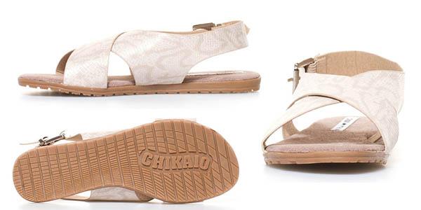 sandalias planas con tiras cruzadas cómodas Chika10 Qatar 03 chollo
