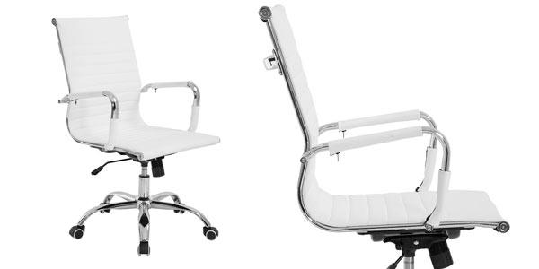 Silla de oficina moderna y ergonómica en color blanco barata en eBay