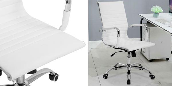 Silla de oficina moderna y ergonómica en color blanco en oferta en eBay