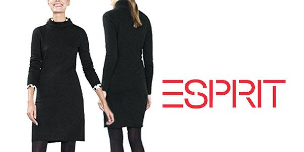 Vestido negro de punto Esprit barato en Amazon