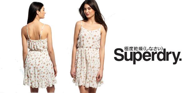 Vestido de verano para mujer Summer Girl Vintage Rose Bud de Superdry chollo en eBay