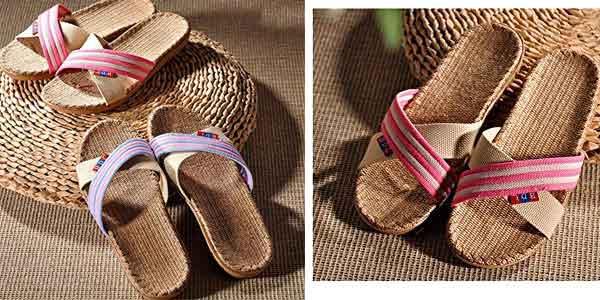 Zapatillasde lino natural para mujer Goodid chollo en Amazon España