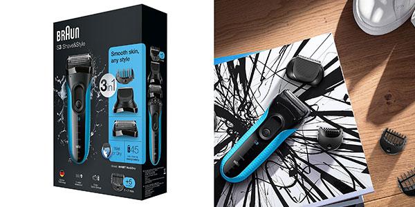 Afeitadora recortadora recargable eléctrica Braun series 3 3010 BT