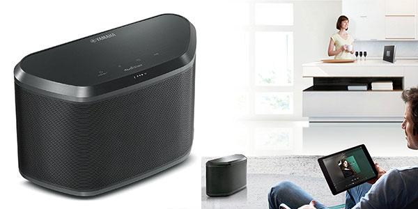 Altavoz Yamaha WX-030 streaming Bluetooth de color negro