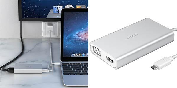 Hub AUKEY CB-C55 USB C