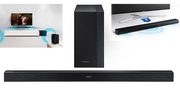Barra de sonido con conexión Bluetooth Samsung y subwoofer inalámbrico rebajada en Amazon