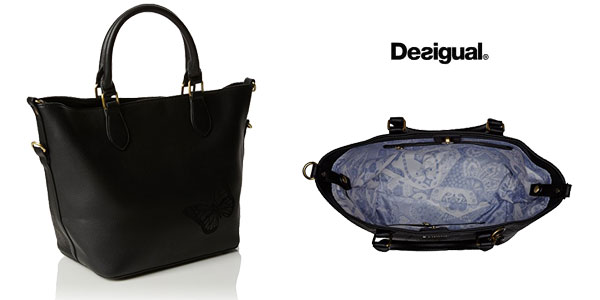 Bolso Florida Holewood de Desigual color negro chollo en Amazon