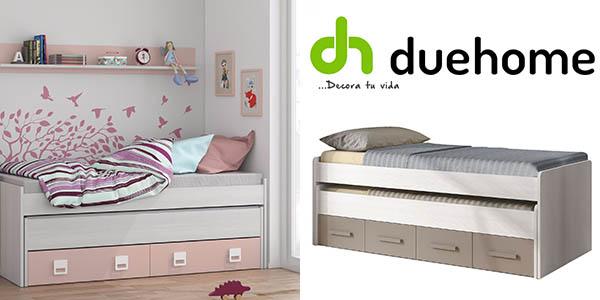 cama doble Duehome con cajones barata
