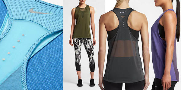 camiseta transpirable para hacer running mujer Nike zonal cooling relay