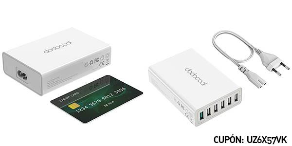 Cargador USB dodocool Quick Charge 3.0 58W 6 Puertos