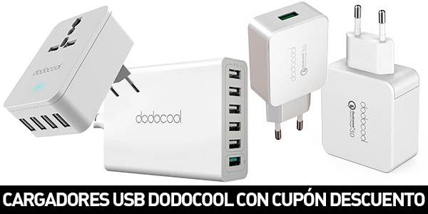 Cargadores USB Dodocool con cupón descuento