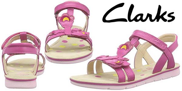 Clarks Kids Mimo Gracia Jnr sandalias niña baratas