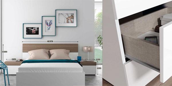 Conjunto cabezal y mesitas dormitorio Due Home chollo en eBay