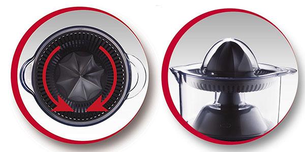Exprimidor Moulinex Ultracompact con jarra transparente de 0,5l, 25w, color negro