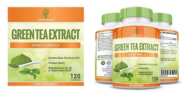 Extracto de té verde natural 120 cápsulas