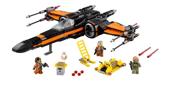 Figura Lego Star Wars nave X-Wing de Poe El Despertar de la Fuerza barata en Amazon