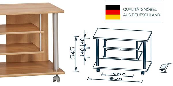 funcional mueble televisor con baldas para los aparatos electrónicos chollo