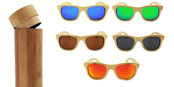 Gafas de sol de madera polarizadas Habi chollazo en Amazon