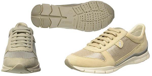 Geox D Sukie A zapatillas transpirables cómodas