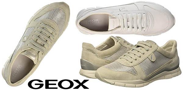 Geox Respira Sukie A zapatillas casual para mujer baratas