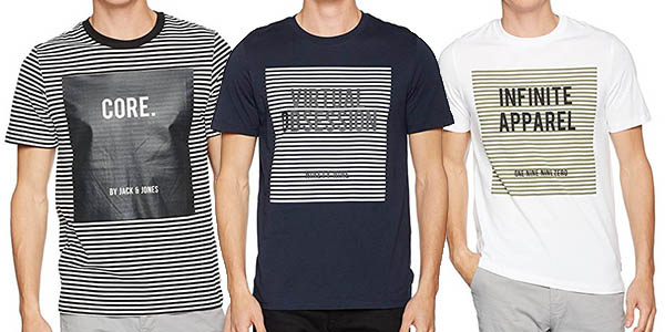 Jack & Jones Jcoanton Tee Ss Crew Neck camiseta hombre barata