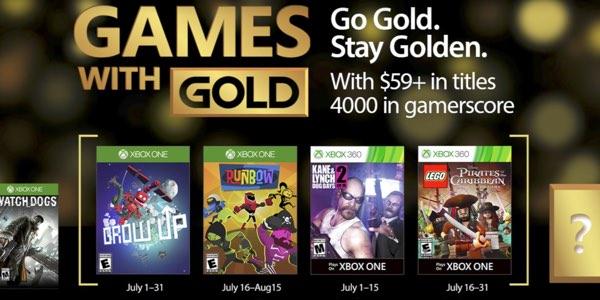 Juegos gratis con Gold Xbox julio 2017