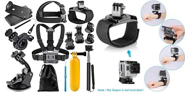 Kit accesorios 12 en 1 de Neewer para cámara deportiva chollo en Amazon