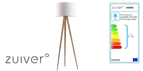 Lámpara de pie Tripod Wood de Zuiver chollo en Amazon