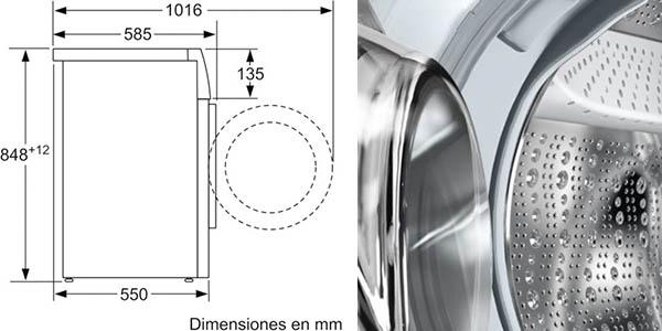 lavadora Bosch WAT24468ES reducido consumo y paneles antivibración