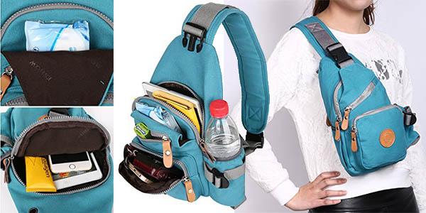 mochila compacta compartimentos diseño cruzado barata