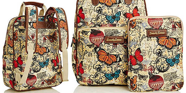 mochila para portátil y tableta Swankyswans Atlantis Butterfly chollo