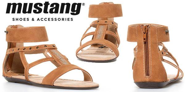 Mustang Marte sandalias de cuero para mujer baratas