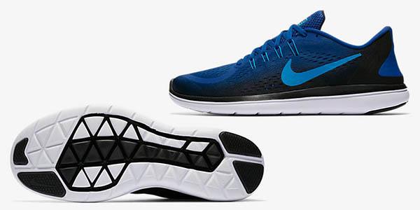 Nike Flex 2017 RN azul bambas cómodas de deporte chollo