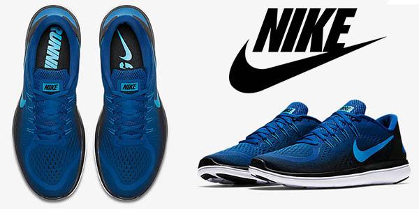 Nike Flex 2017 RN azul marino zapatillas para running para hombre baratas