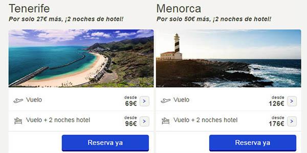 paquete vuelo + hotel vacaciones verano 2017