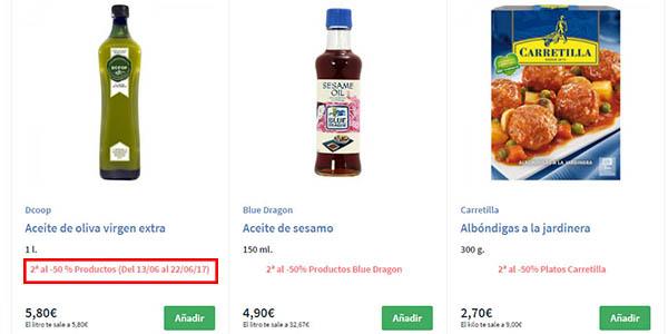 promoción segunda unidad Supermercado Carrefour